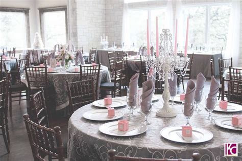 Pink and Grey Wedding Reception   An Elegant Cathedral
