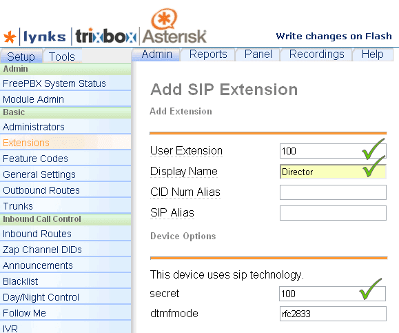 Добавление аккаунта для абонентского порта шлюза серии DVG