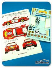 Calcas 1/24 Reji Model - Porsche 934 Gelo Racing Team - Nº 57 - T. Hezemans + T. Schenken - 24 Horas de Le Mans 1976 - fotograbados + piezas de metal para kit de tamiya TAM24328
