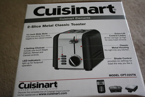 Cuisinart toaster box