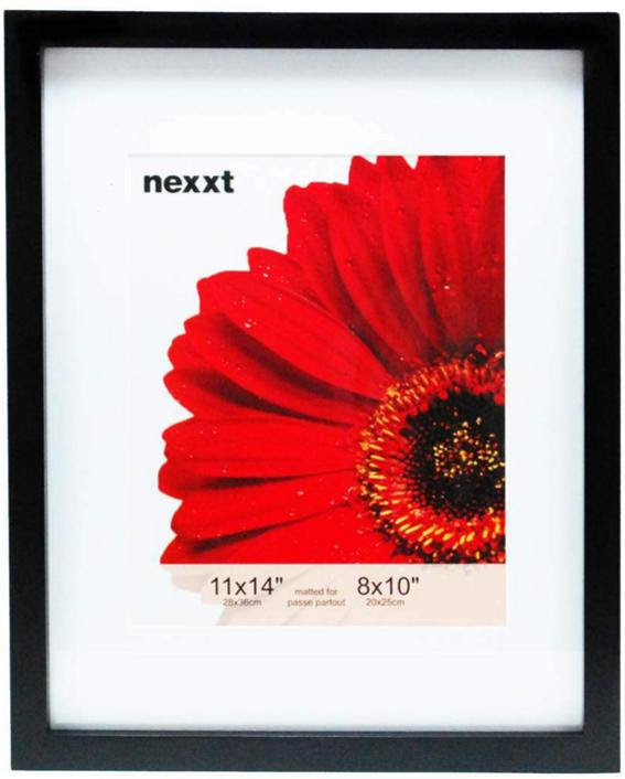 Gallery 11x14 Black Wood Frame With White Mat For An 8x10 Athena
