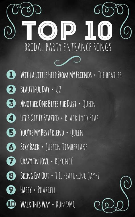 Top 10 bridal party entrance songs   Wedding Tips & Advice