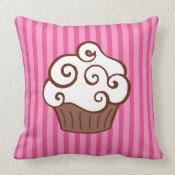 Vanilla Cupcake Pillow mojo_throwpillow