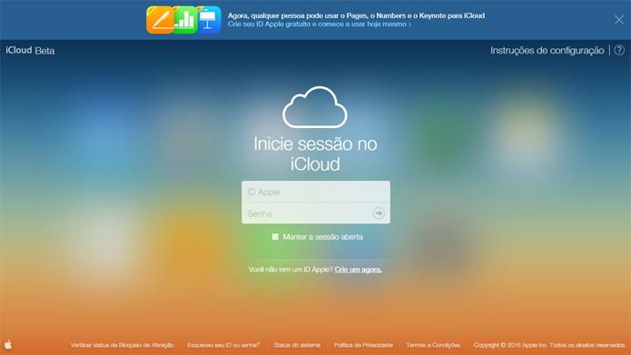 Novo iCloud permite acesso de qualquer usuário (foto: Reprodução/iCloud)