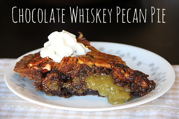 blog wanderlust whimsy megan chocolate whiskey pecan pie recipe