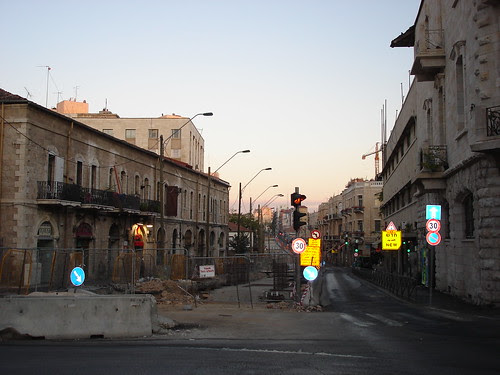 Downtown Jerusalem in the dawn