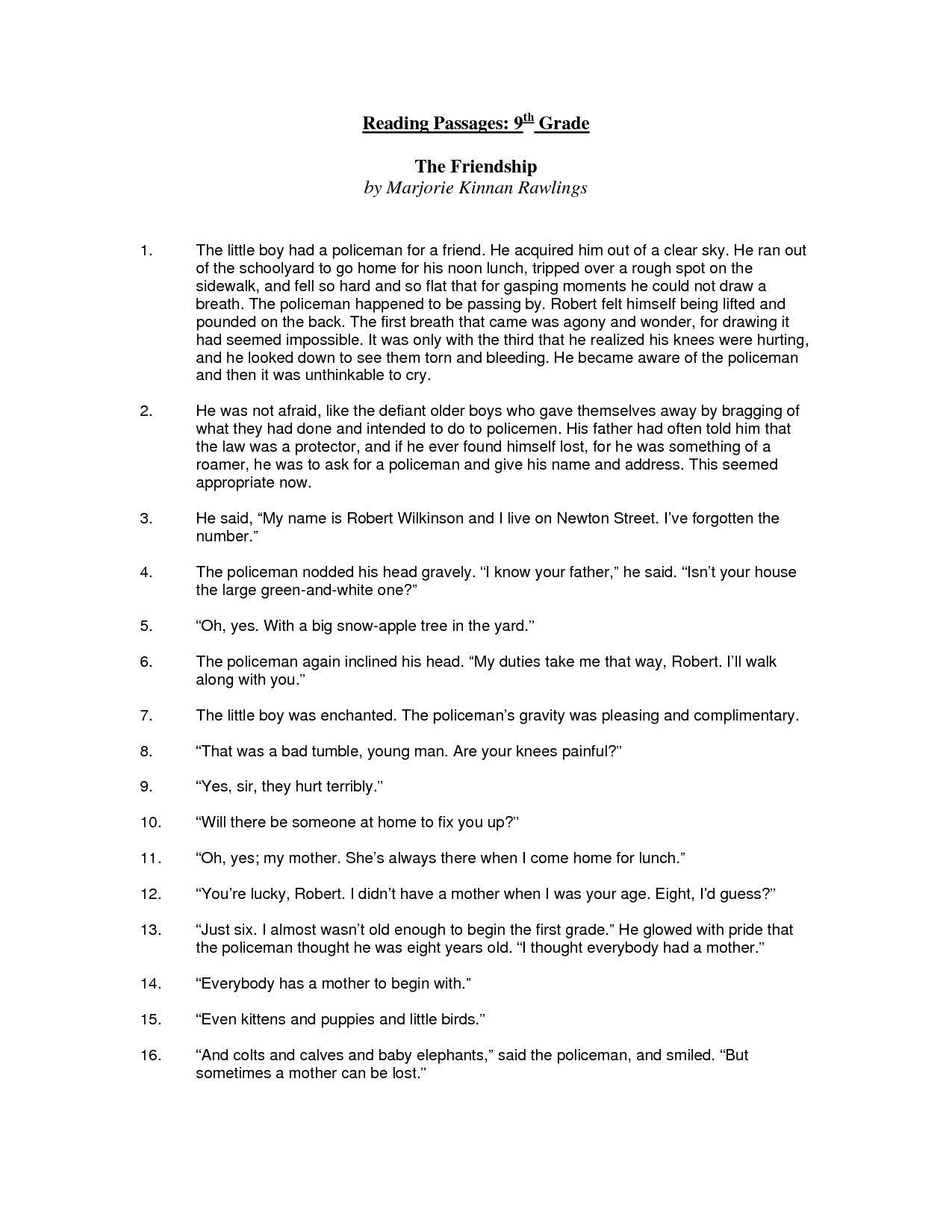 9th Grade Worksheet Category Page 1 Worksheeto