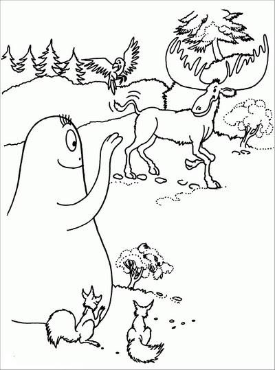 colora i barbapapà,colora i cartoni,disegni da colorare per bambini,colora i disegni,barbapapà,