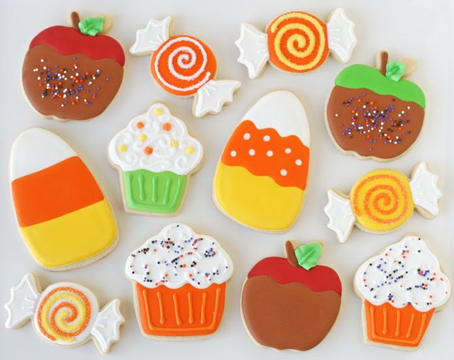 Caramel Apple Decorated Cookies – Glorious Treats