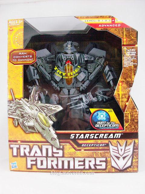 Transformers Starscream HftD Leader Class - caja