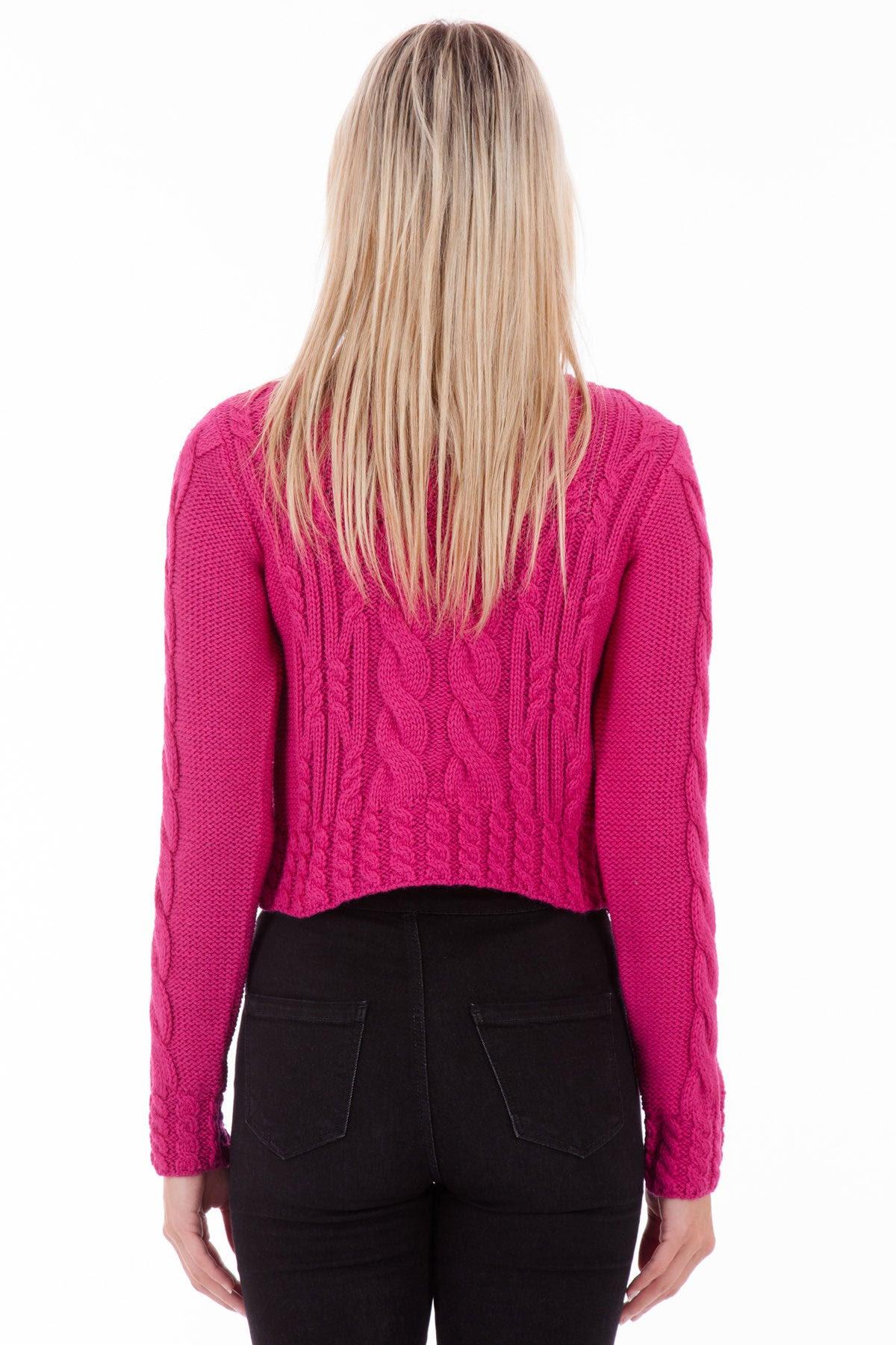 vintage aran  hot pink womens aran jumper wool sweater