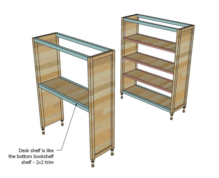 Ana White | Build a Chelsea Bunk Bed System Desk or Bookshelf ...