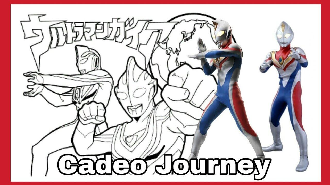 Watching Video Belajar Mewarnai Gambar Ultraman Dengan Crayon