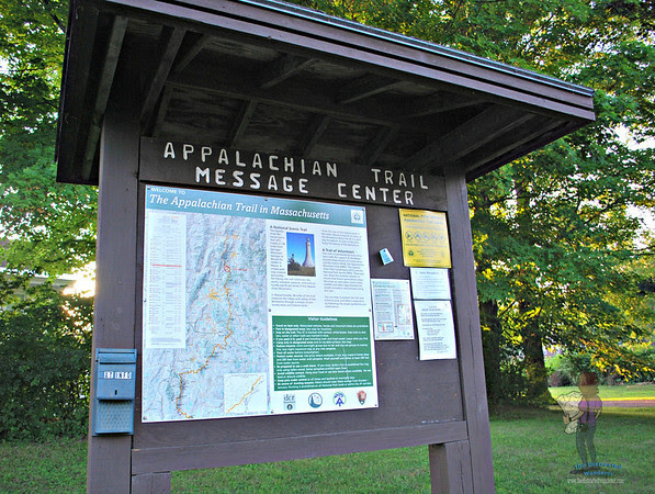 Appalachian Trail Kiosk near the Chester Cheese Press