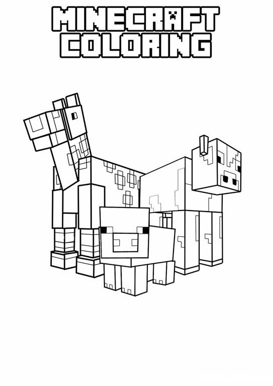 Kleurplaat Minecraft Pro X Gojek