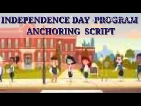 Independence Day Anchoring Script In English 15 August Script In