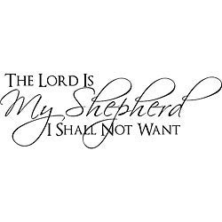 Decorative 'The Lord is my Shepherd I Shall Not Want ...
