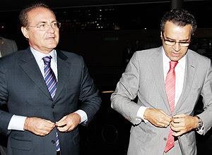 Renan Calheiros (à esq.) e Henrique Eduardo Alves, presidentes do Senado e a da Câmara, respectivamente