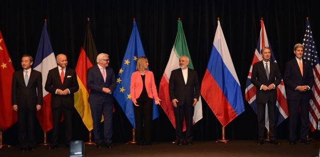 """<span class='image-component__caption' itemprop=""""caption"""">The nuclear deal negotiators pose for a family shotafter concluding months of talks on July 14, 2015.</span>"""