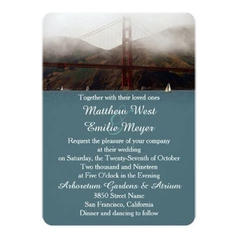 47 best images about Golden Gate Wedding Invitations on