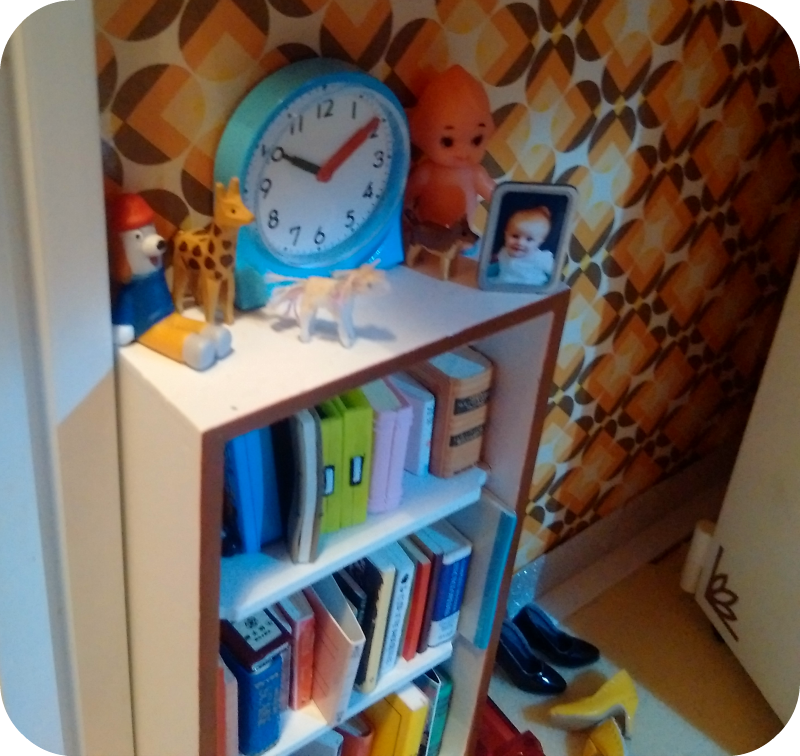 1/6 scale miniature doll bookcase