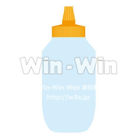 はちみつボトル W 022745 の無料cgイラスト素材
