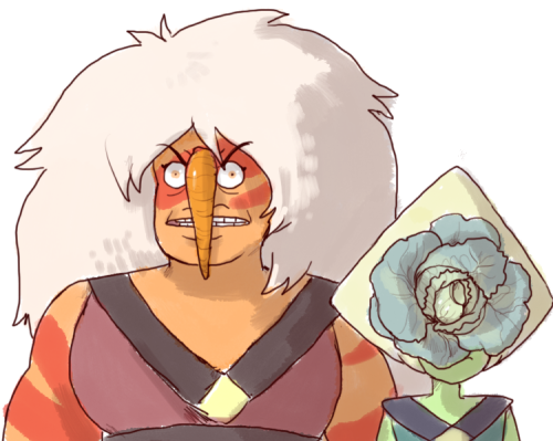 gaycheerio said: May I ask your thoughts on: SU, but instead of gems, they had vegetables Answer: im la ughign what ???? vegetables ??? excuse me ???? vegetables. the crystal spuds. steven whispering...