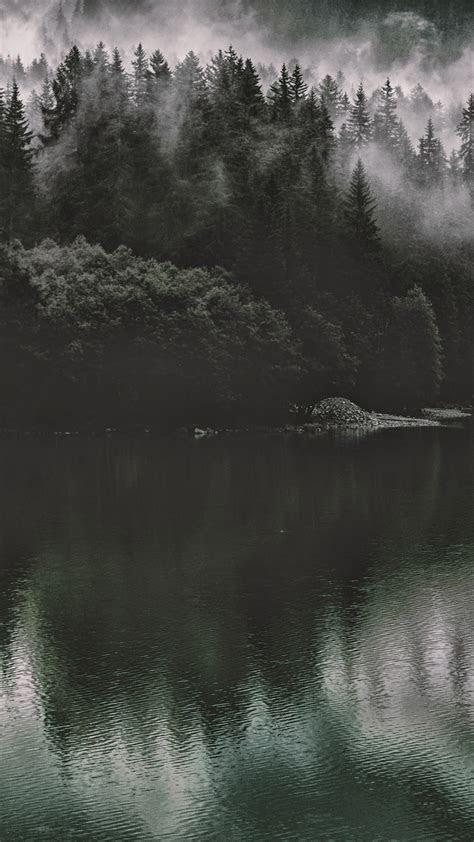 papersco iphone wallpaper nu lake mountain water dark nature