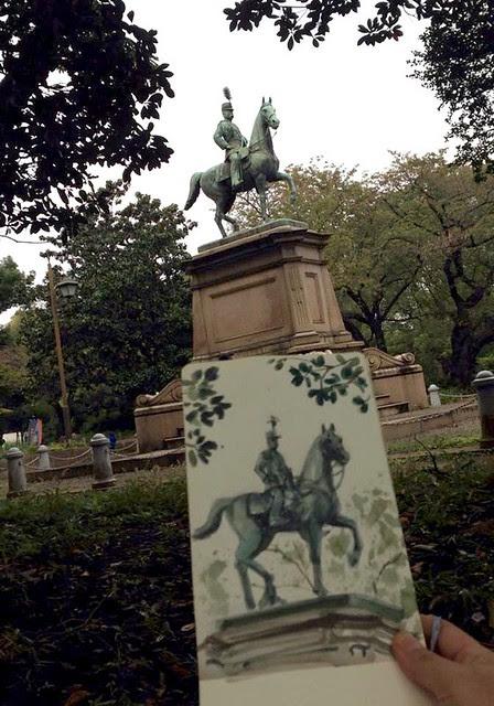 a statue of Emperor Meiji
