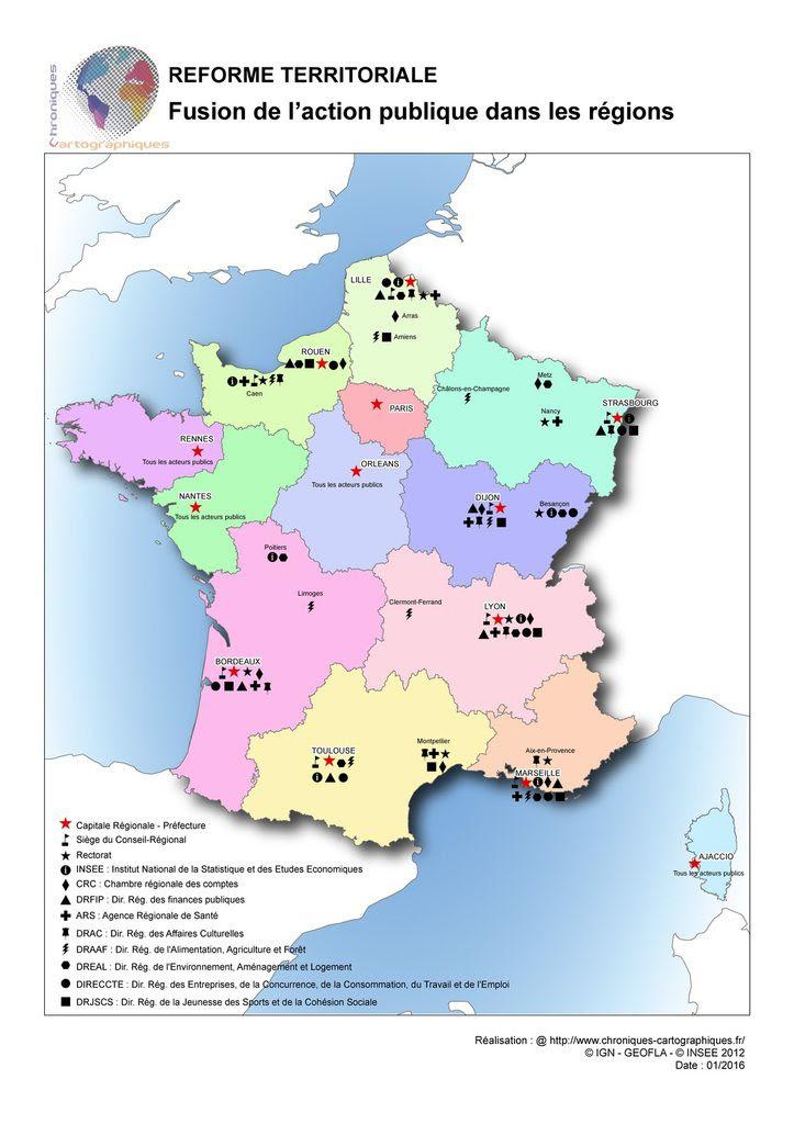 Fusion Des Régions Réorganisation De La Carte Administrative De