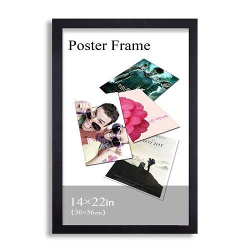 Adeco Pf0385 14x22 Black Poster Frame Picture Frame 125 Wide W