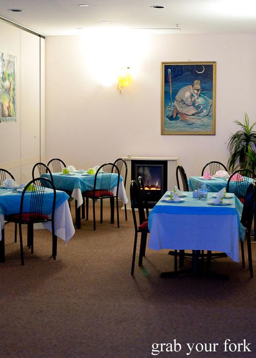 dining room at Berezka Restaurant, Russian Club, Strathfield