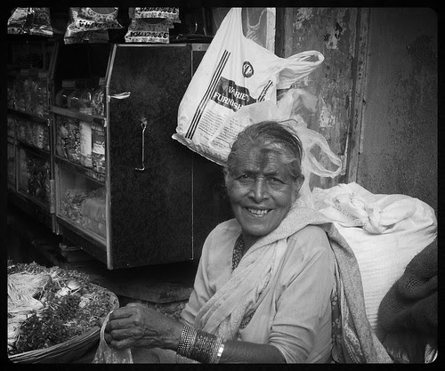 The Bhajiwali Bai Of Bandra Bazar Road by firoze shakir photographerno1