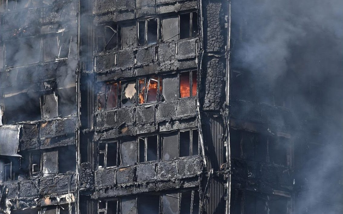 Smoke continues to rise from the burning 24 storey residential Grenfell Tower block in Latimer Road in London, England. The Mayor of London, Sadiq Khan, has declared the fire a major incident as more than 200 firefighters were still tackling the blaze while at least 50 people are receiving hospital treatment.
