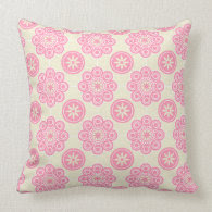 Sweet Pink Floral Pillow