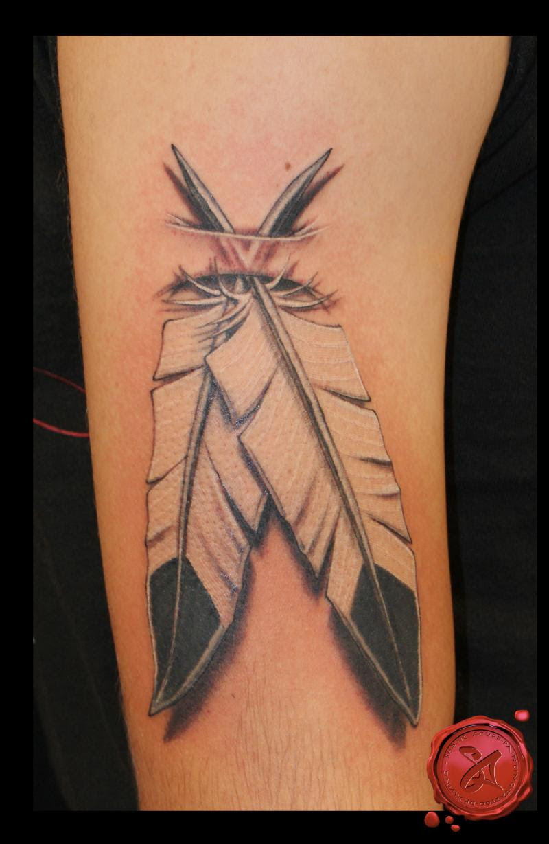 The Native American Eagle Feather Tattoo Design For Men Tattoomagz