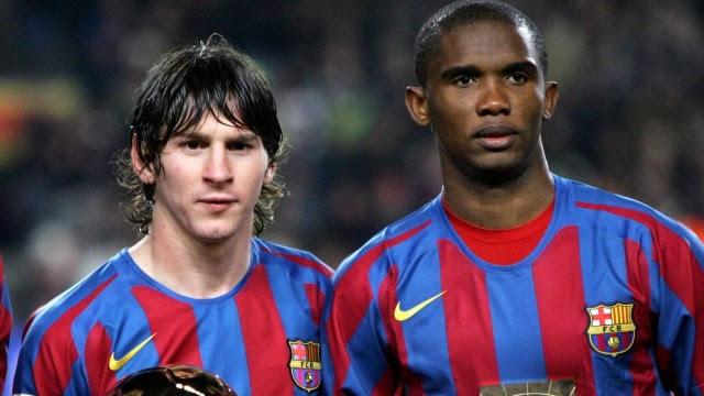 Ronaldinho, Messi e Eto'o juntos no Barça