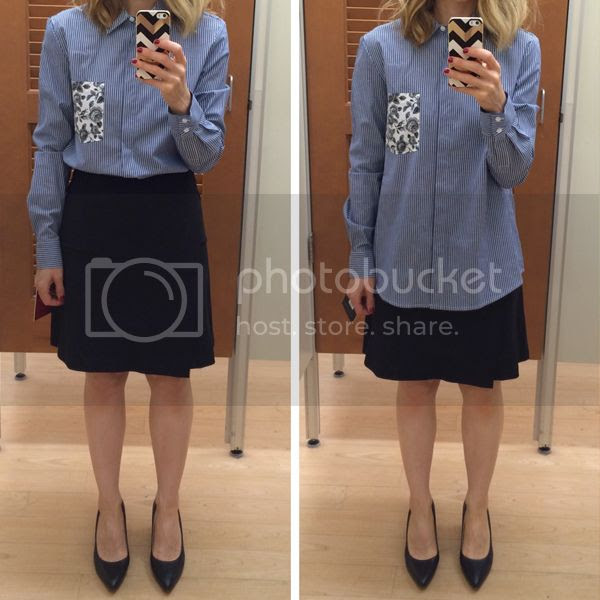 Thakoon for Kohls Print Pocket Shirt