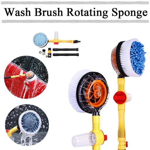 Strong High Pressure Car Foam Brush Rotating Automatic Sponge Hose Washing Tool