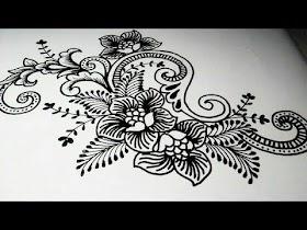 Sketsa Batik Burung Mudah