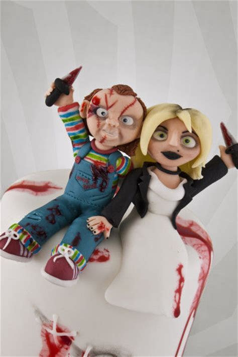 Horror Film Wedding Cakes : bride of chucky