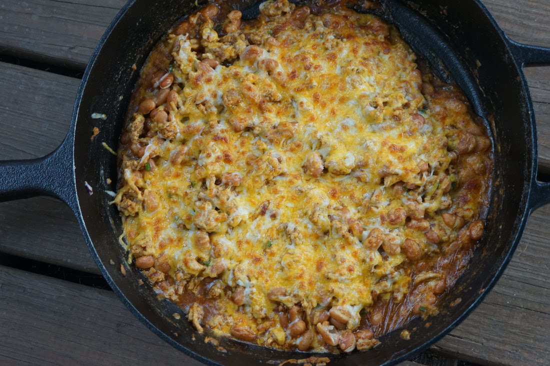 Skillet Turkey Nachos - My Story in Recipes