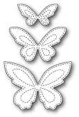 1798 Stitched Butterfly Trio craft die