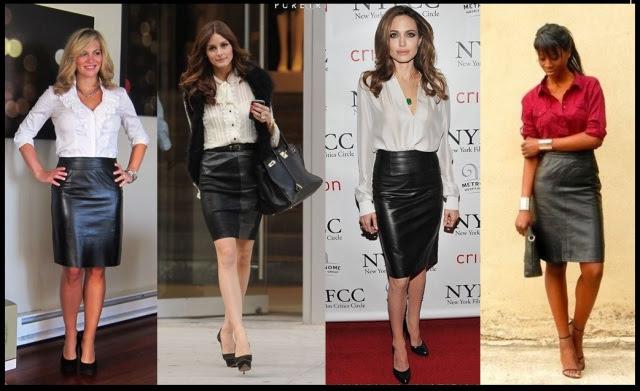 01_Como usar saia de couro_Look para trabalhar_saia de couro com camisa