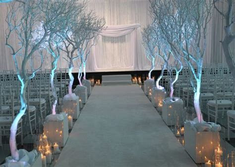 Winter Wonderland Wedding! Ceremony decor by A Memorable