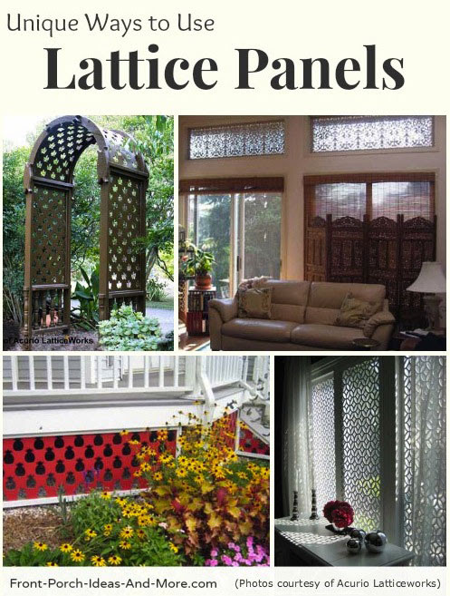 Vinyl Lattice Panels | Black Lattice Panels | Privacy Lattice Panels