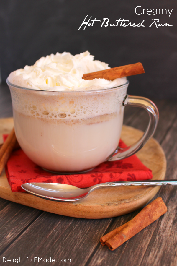The ultimate cold weather cocktail!  Spiced rum, cinnamon and a few other goodies make this delicious hot toddy completely amazing and the perfect way to warm up on a cold night!