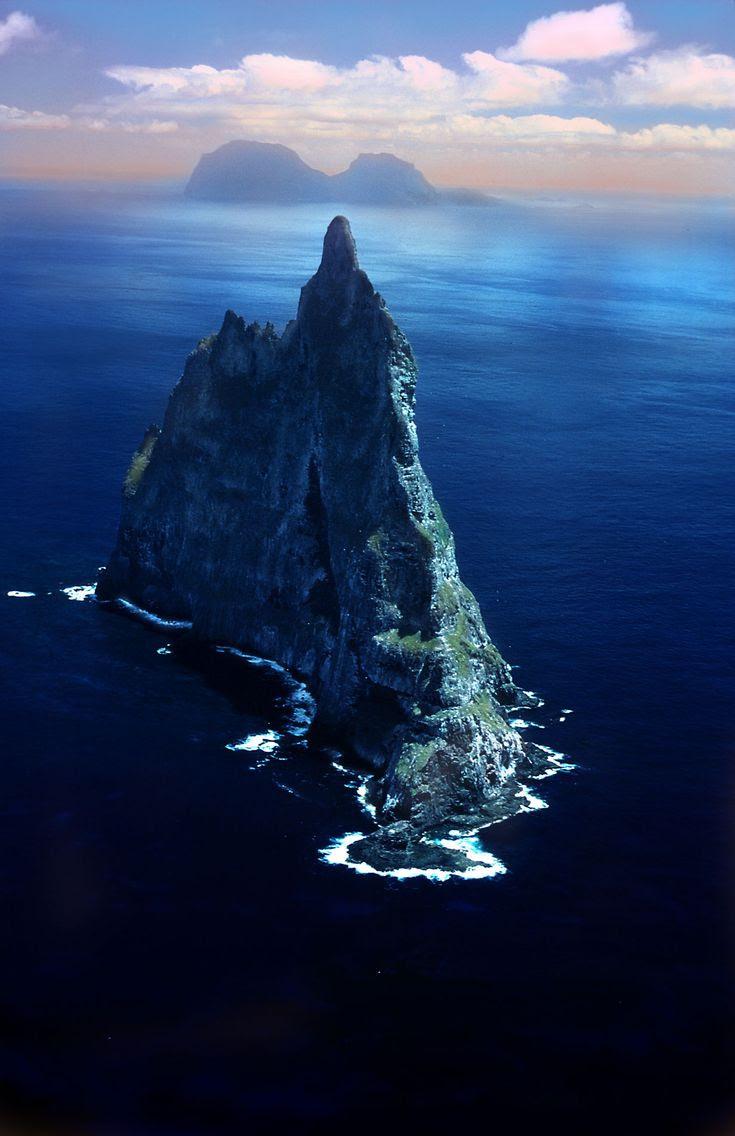 Ball's pyramid, the                                                            world's                                                            tallest                                                            seastack, off                                                            the Eastern                                                            coast of                                                            Australia.
