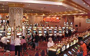English: Slot machines in the Trump Taj Mahal ...