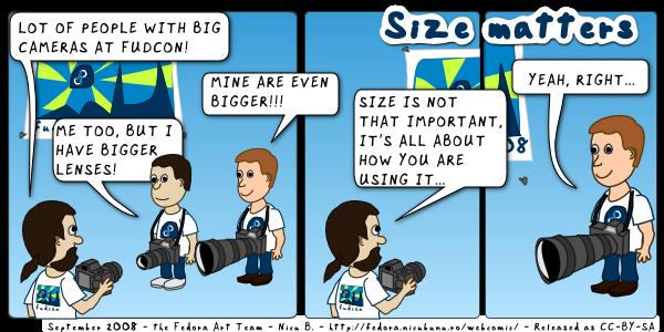 [fedora webcomic: size matter]